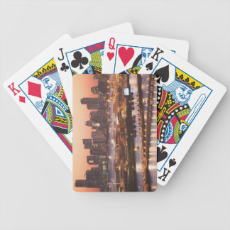 Miami Cityscape Bicycle Playing Cards