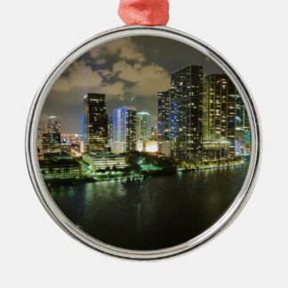 Miami Cityscape Christmas Ornament