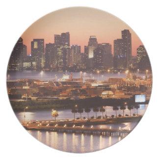 Miami Cityscape Plate