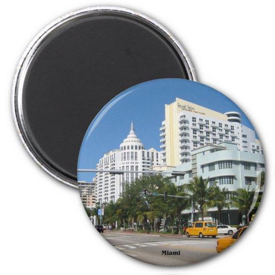 Miami Cityscape refrigerator magnet