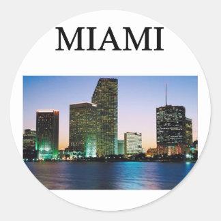 miami! classic round sticker