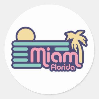 Miami Classic Round Sticker