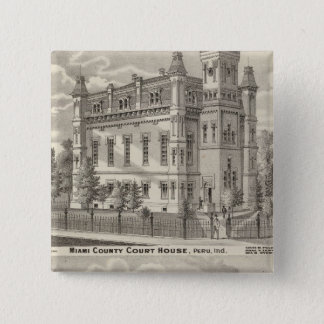 Miami County Court House 15 Cm Square Badge