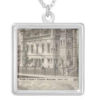 Miami County Court House Silver Plated Necklace