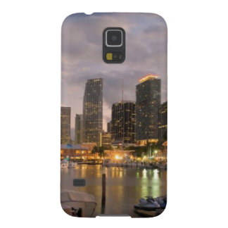 Miami financial skyline at dusk cases for galaxy s5