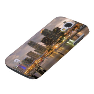 Miami financial skyline at dusk galaxy s4 case