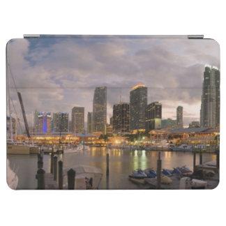 Miami financial skyline at dusk iPad air cover