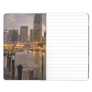 Miami financial skyline at dusk journal