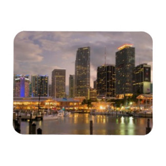 Miami financial skyline at dusk magnet