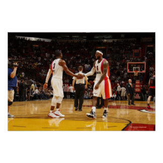 MIAMI, FL - FEBRUARY 5: Dwayne Wade #3 and Poster