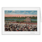 Miami, FL - View of Hialeah Park with Horse Card