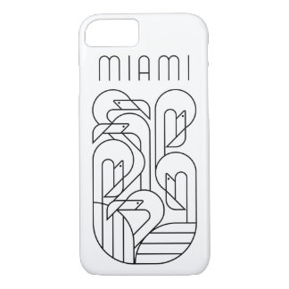 Miami Flamingo Black iPhone 8/7 Case