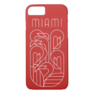 Miami Flamingo White iPhone 8/7 Case