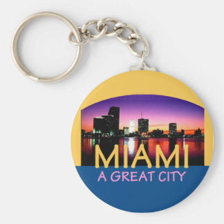 Miami Florida A Great City Keychain