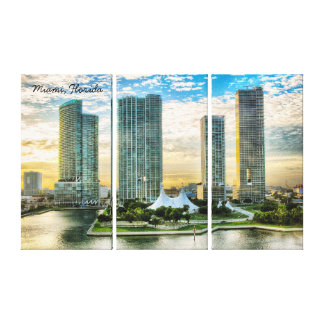 Miami Florida at Sunrise Canvas Print