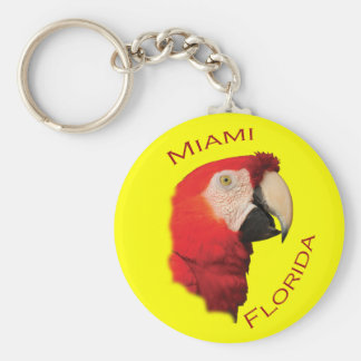 Miami, Florida Basic Round Button Key Ring