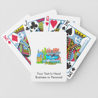 miami florida city graphic design travel.png bicycle playing cards