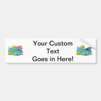 miami florida city graphic design travel.png car bumper sticker