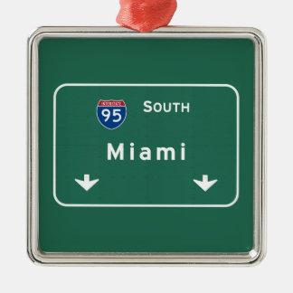 Miami Florida fl Interstate Highway Freeway : Christmas Ornament