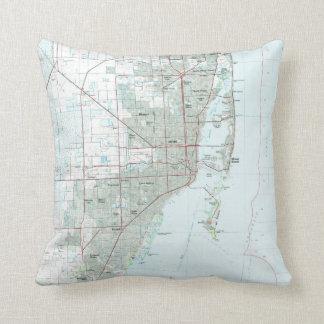 Miami Florida Map (1981) Cushion