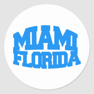 Miami Florida Round Sticker