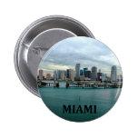Miami Florida Skyline Buttons