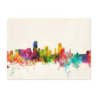 Miami Florida Skyline Cityscape Canvas Prints