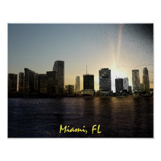 Miami, Florida skyline Poster