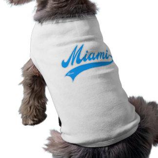 miami florida sleeveless dog shirt