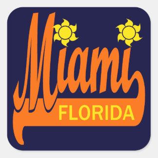 Miami, Florida Square Sticker
