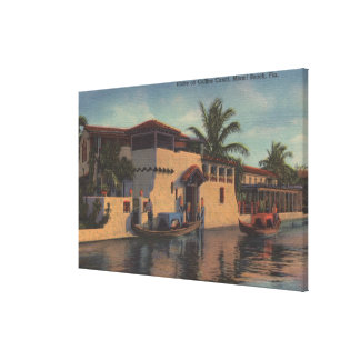 Miami, Florida - View of House on Collins Canal Canvas Print