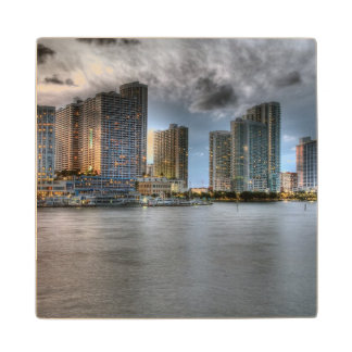 Miami, Florida Wood Coaster
