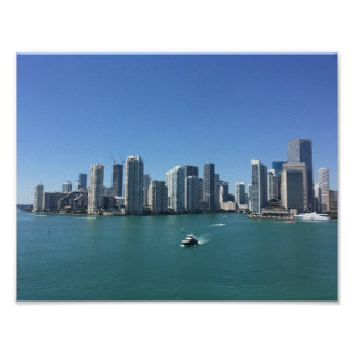 Miami from the sea poster