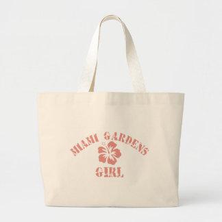Miami Gardens Pink Girl Canvas Bag