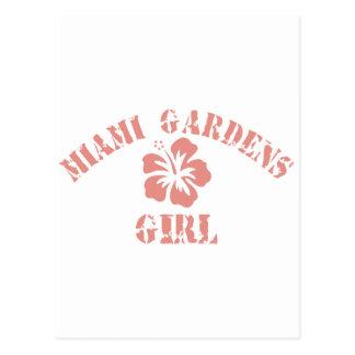 Miami Gardens Pink Girl Postcards