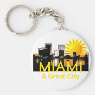 MIAMI Great City Keychain