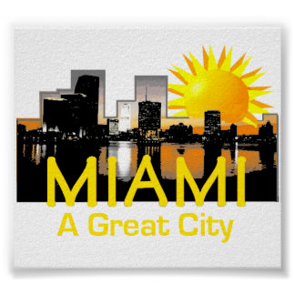 MIAMI Great City Poster