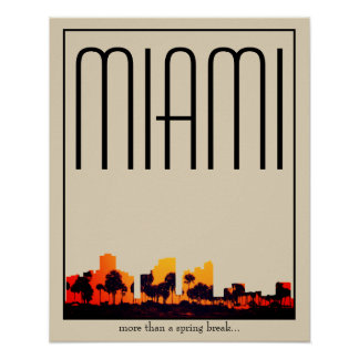 Miami illustration poster