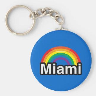 MIAMI LGBT PRIDE RAINBOW KEY CHAIN