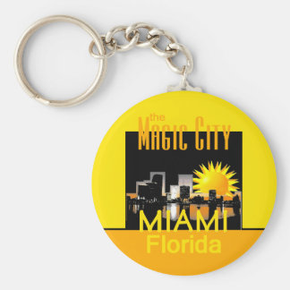 MIAMI Magic City Keychain