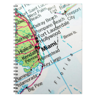 Miami Map Spiral Notebooks