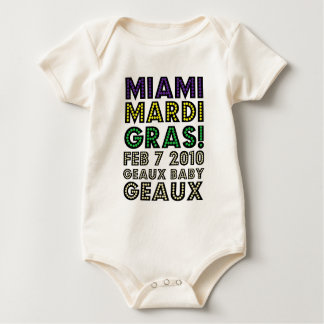 MIAMI MARDI GRAS NEW ORLEANS SAINTS SUPER BOWL BABY BODYSUIT