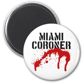 Miami Metro PD Coroner 6 Cm Round Magnet