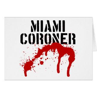 Miami Metro PD Coroner Card
