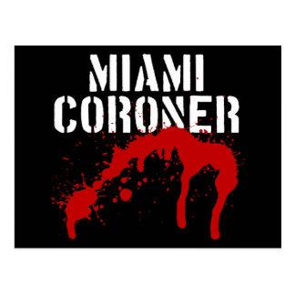 Miami Metro PD Coroner Postcard