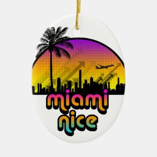 Miami Nice Ceramic Oval Decoration
