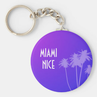 Miami Nice Keychain (blue neon)