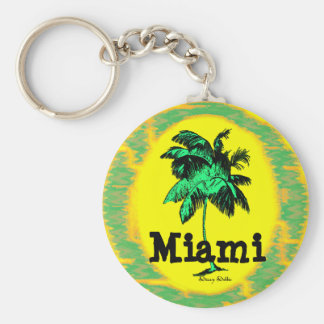 Miami Palm Tree key chain