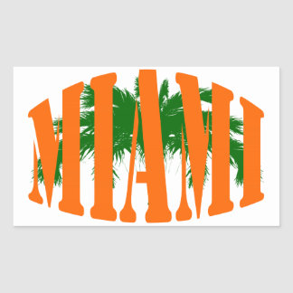 Miami Rectangular Sticker