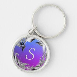 Miami Shine Monogram Key Ring